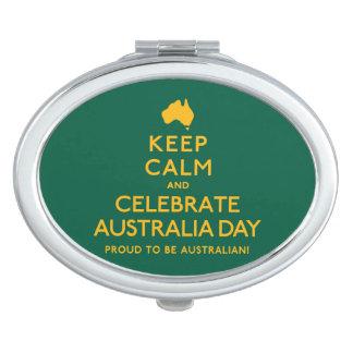 Keep Calm and Celebrate Australia Day! Travel Mirrors