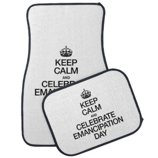 KEEP CALM AND CELEBRATE EMANCIPATION DAY FLOOR MAT