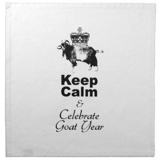 Keep Calm and Celebrate Goat year 2015 Printed Napkin