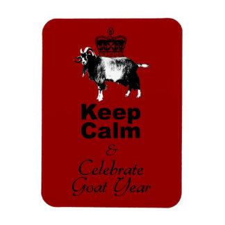 Keep Calm and Celebrate Goat year 2015 Rectangular Photo Magnet
