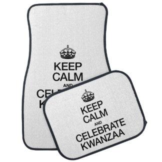 KEEP CALM AND CELEBRATE KWANZAA CAR MAT