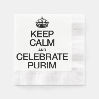 KEEP CALM AND CELEBRATE PURIM DISPOSABLE NAPKIN