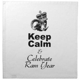 Keep Calm and Celebrate Ram Year 2015 Napkin