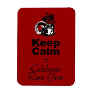 Keep Calm and Celebrate Ram Year 2015 Rectangular Photo Magnet