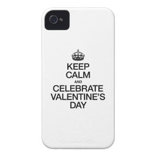 KEEP CALM AND CELEBRATE VALENTINE'S DAY Case-Mate iPhone 4 CASES