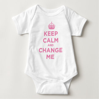 Keep Calm and Change Me Baby Bodysuit