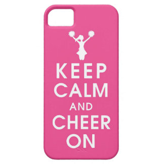 keep calm and cheer cheerleader completion funny h iPhone 5 covers