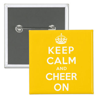 Keep Calm and Cheer On 2 Inch Square Button