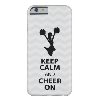 KEEP CALM and CHEER ON - BLACK - iPhone 6 case Barely There iPhone 6 Case