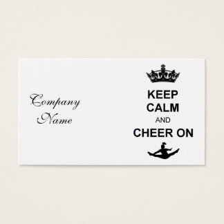 Keep Calm and Cheer on Business Card