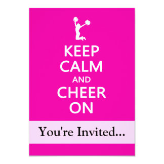 Keep Calm and Cheer On, Cheerleader Pink Card