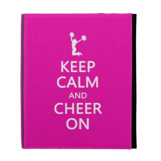 Keep Calm and Cheer On, Cheerleader Pink iPad Folio Cover