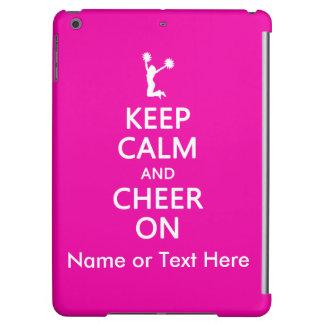 Keep Calm and Cheer On, Custom Cheerleader Pink iPad Air Covers