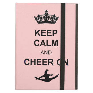 Keep Calm and Cheer on iPad Air Covers