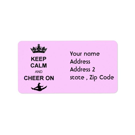Keep Calm and Cheer on Label