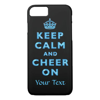 Keep Calm and Cheer On Personalized iPhone 7 Cases