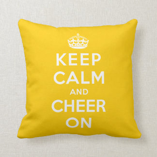 Keep Calm and Cheer On Pillow