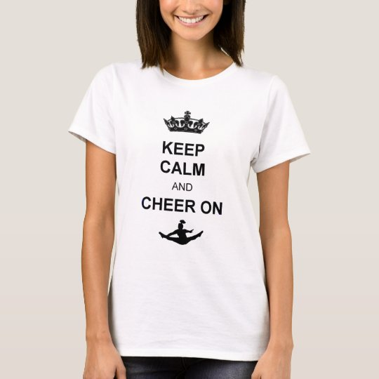 Keep Calm and Cheer on shirt