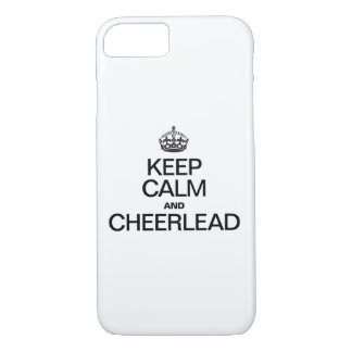 KEEP CALM AND CHEERLEAD iPhone 7 CASE