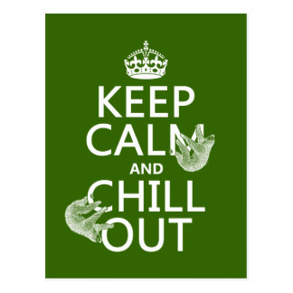 Keep Calm and Chill Out (sloth) (any color) Postcard