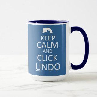 Keep Calm and Click Undo - Customized Mug