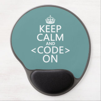 Keep Calm and <Code> On - all colours Gel Mouse Pad
