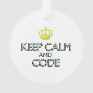 Keep Calm and Code Ornament