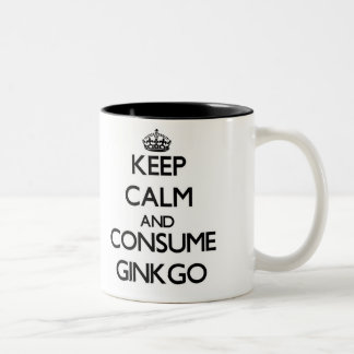 Keep calm and consume Ginkgo Two-Tone Coffee Mug