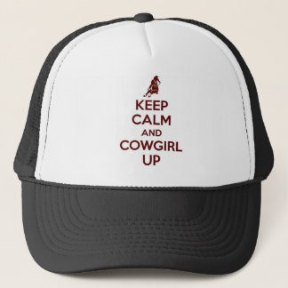 Keep Calm and Cowgirl Up.jpg Trucker Hat