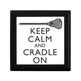 Keep Calm And Cradle On Lacrosse Trinket Box