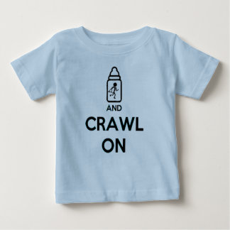 Keep Calm and Crawl on - Twin B Baby T-Shirt