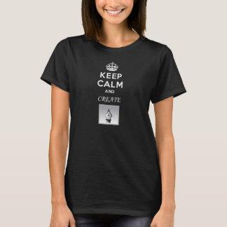Keep Calm and Create! (ladies/dark) T-Shirt
