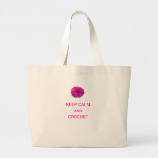 Keep Calm and Crochet Large Tote Bag