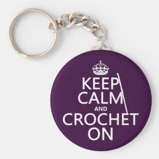 Keep Calm and Crochet On Keychain