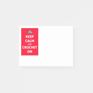 Keep Calm and Crochet On Post-it Notes