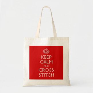 Keep Calm and Cross Stitch Tote Bag
