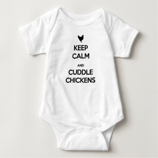 Keep Calm and Cuddle Chickens Baby Bodysuit