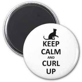 Keep calm and curl up magnet