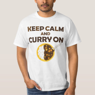 Keep Calm and Curry on Graphic Tee Shirt