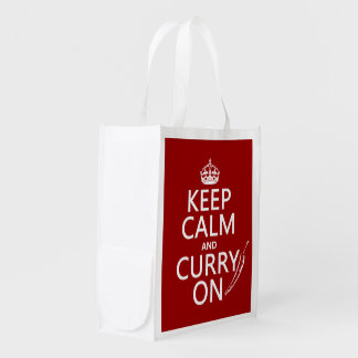 Keep Calm and Curry On Market Tote