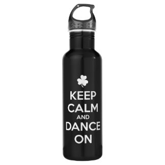 KEEP CALM and DANCE ON 710 Ml Water Bottle