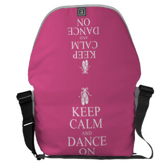 Keep Calm and Dance On Ballerina Shoes Pink Messenger Bags
