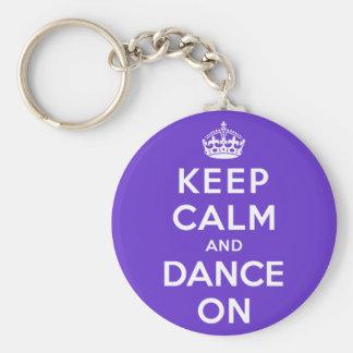 Keep Calm and Dance On Keychain