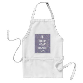 Keep Calm and Dance On Lavender Bokeh Standard Apron