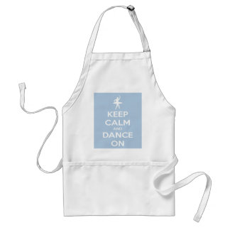 Keep Calm and Dance On Light Blue Aprons