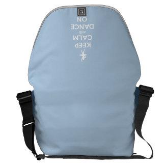 Keep Calm and Dance On Light Blue Messenger Bag