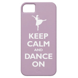 Keep Calm and Dance On (pale violet) iPhone 5 Case