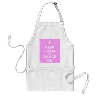 Keep Calm and Dance On Pink Aprons