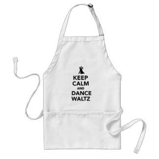 Keep calm and dance Waltz Standard Apron