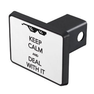KEEP CALM and Deal with It Trailer Hitch Cover